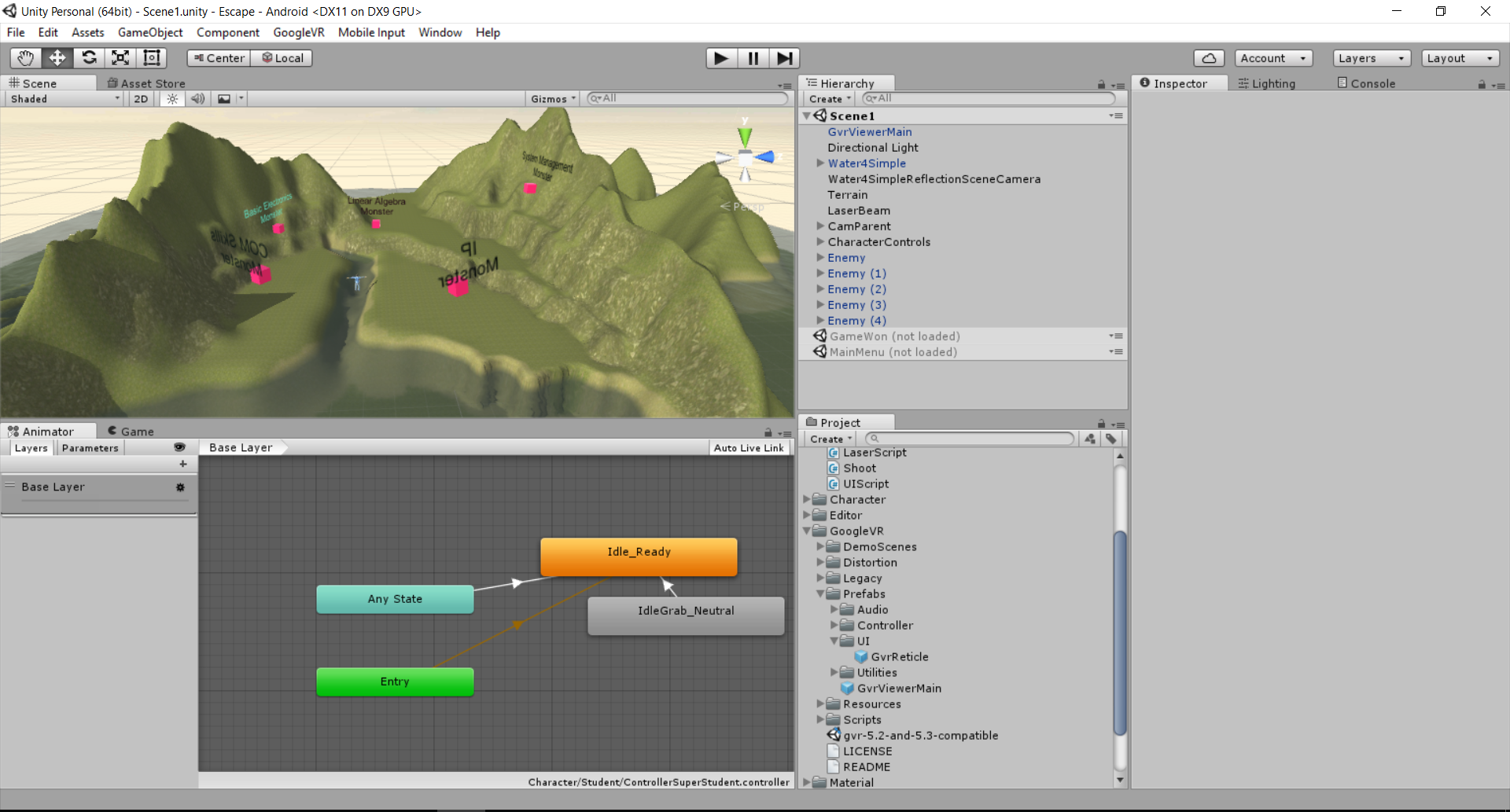 3D Game Development (using UNITY) - System Management Project Wiki 2016