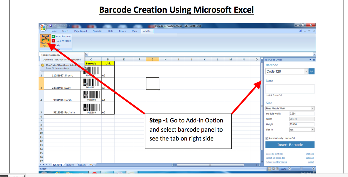 Barcode Generation - System Management Project Wiki 2016