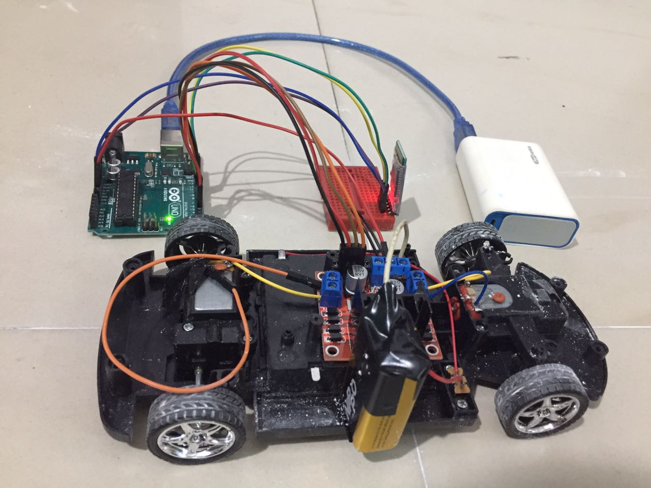 Remote controlled car using arduino system management